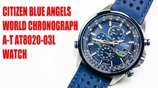 Citizen Blue Angels World Chronograph A-T AT8020 Watch.