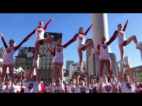 Indiana Cheerleaders & Band Foster Farms Bowl Pep Rally Union Square San Francisco California 2016