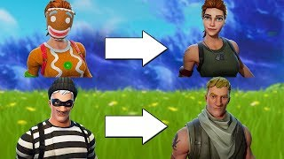 All Masked Skins Face Reveals - Fortnite Battle Royale