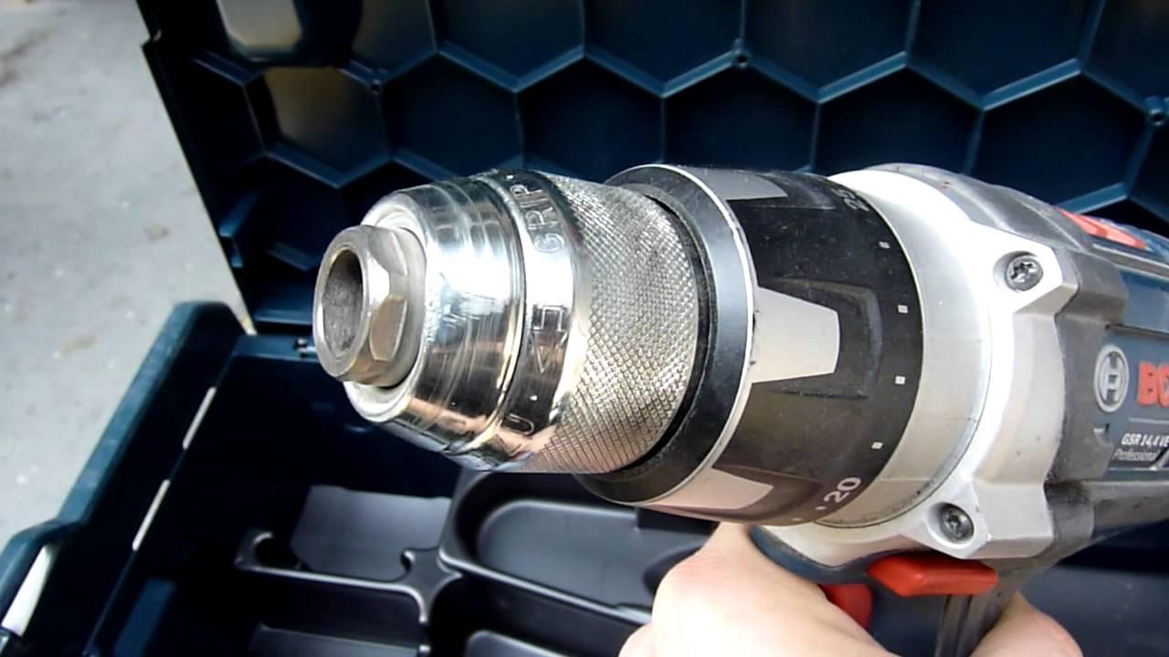 perceuse visseuse sans fil bosch gsr 14 4 ve 2 li cordless drill driver youtube. Black Bedroom Furniture Sets. Home Design Ideas