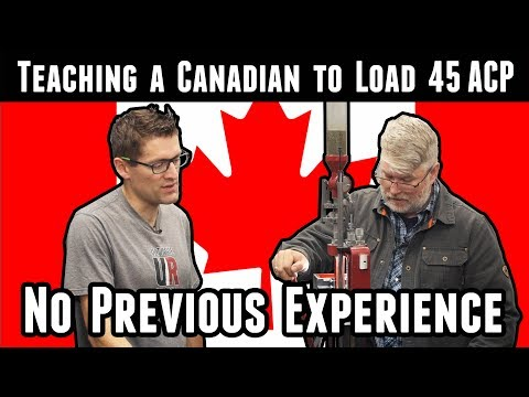 Teaching A Canadian To Load 45ACP (start To Finish)