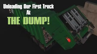 Garbage Truck Simulator Game - Episode #3 -1st Trip To The Dump!