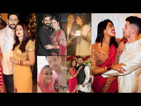 All Bollywood Wife's KARWAAH CHAUDH 2019 Wid Husbands-Priyanka-Nick,Aishwarya,Preity,Anushka,Bipasha