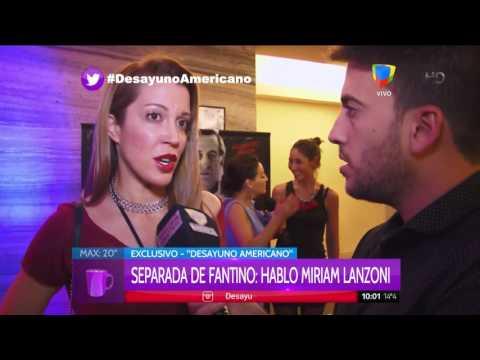 Miriam Lanzoni habló de una posible reconciliación con Fantino