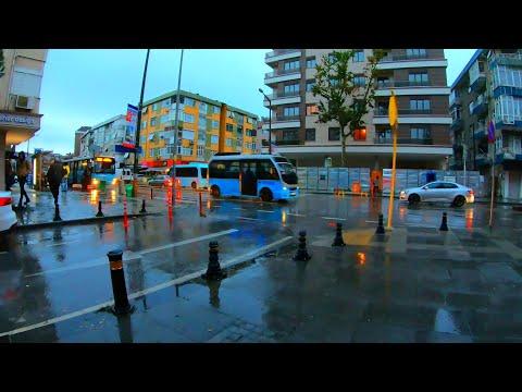 Pendik Walking In The Rain | Istanbul Turkey 🇹🇷[4K]