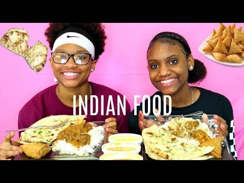 OUR FIRST TIME EATING INDIAN FOOD! TIKKA MARSALA, CURRY GOAT, GARLIC NAAN, VEGETABLE SAMOSA, ETC.