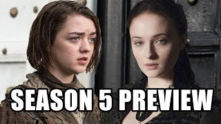Game of Thrones Season 5 Preview (Spoilers) - Maisie Williams, Sophie Turner, Tom Wlaschiha