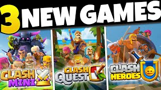 THREE NEW SUPERCELL GAMES | First Look! | Clash Heroes, Clash Mini, Clash Quest