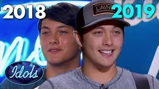 Laine Hardy 2018 Audition Vs Laine Hardy 2019 Audition | Idols Global