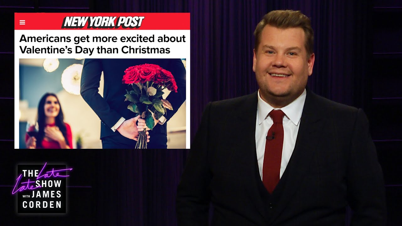 James Corden Has Issues with Valentine's Day