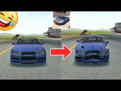 extreme car driving simulator hack apk - Before and after car #2😂||Extreme car Driving simulator|| #shorts