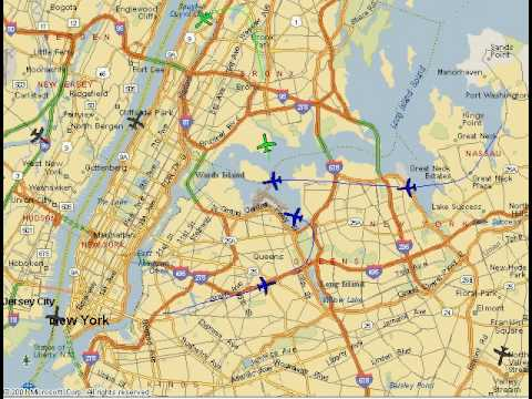 Air Traffic Radar map of US Airways Flight 1549 January 15 2009 3