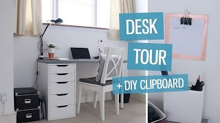 Desk Tour! Design Workspace + Diy Clipboard | Charlimarietv
