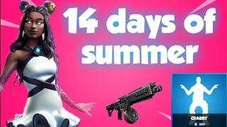 Fortnite live 14 days of summer, Heavy metal LTM, 14 days of summer challenges, New Starfish skin