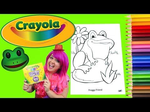 Coloring A Frog Crayola Coloring Book Page Colored Pencil Prismacolor | KiMMi THE CLOWN