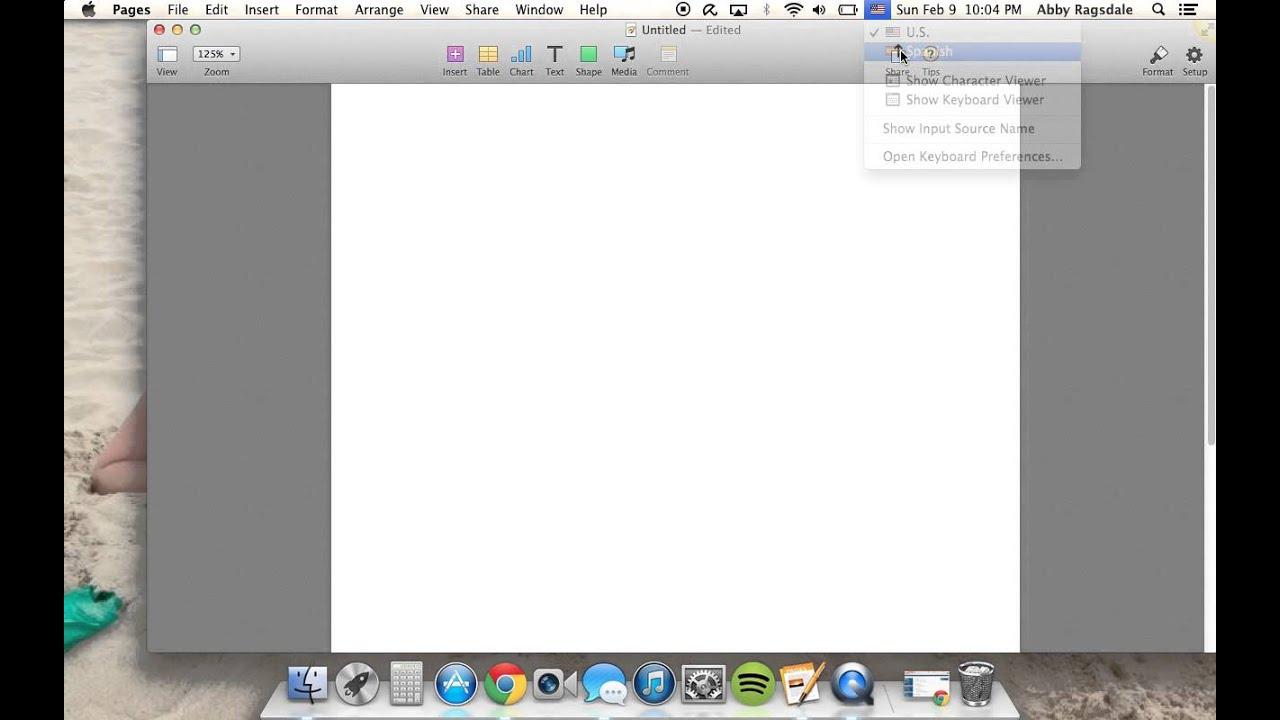 How to change keyboard to Spanish on Mac