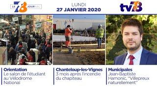7/8 Le Journal. Edition du lundi 28 janvier 2020