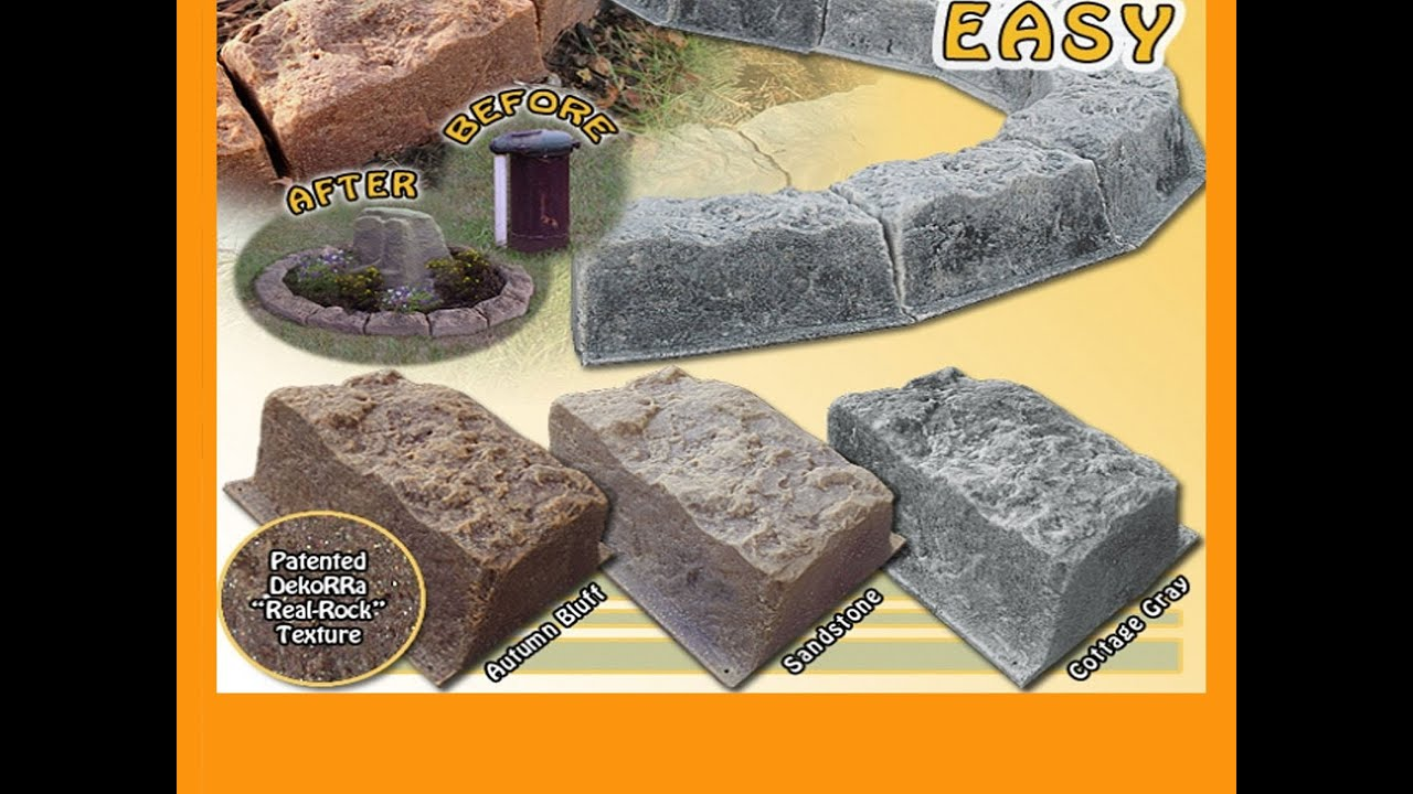 fast & easy faux rock edging