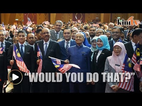 Dr Mahathir: Would you kill if I ordered you to?