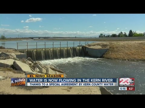 Water returns to Kern river
