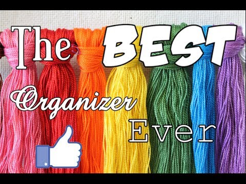The BEST Way to Organize Your Embroidery Floss for Crafting!