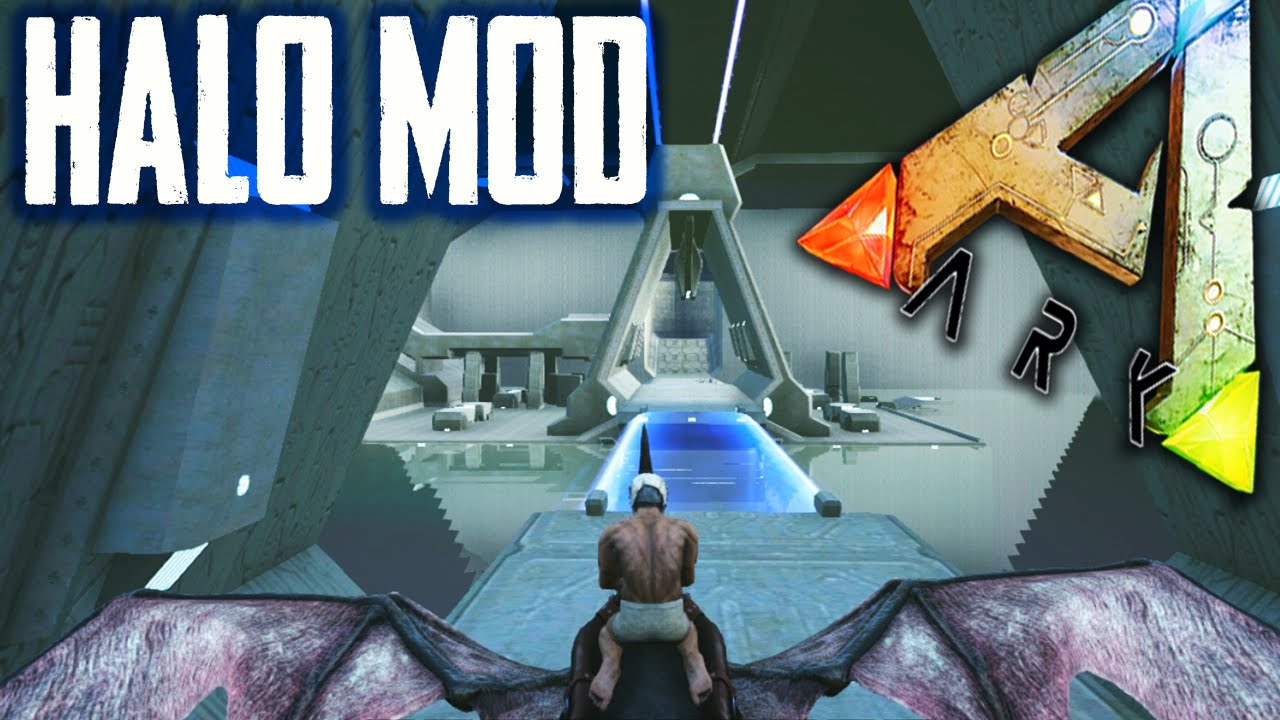 Ark Survival Evolved - HALO MAP, STICKY GRENADE MOD - Halo Mods Gameplay  1080p HD