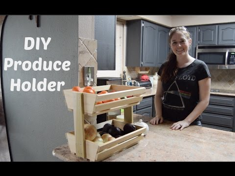 Diy Fruit Veggie Storage Rack Youtube