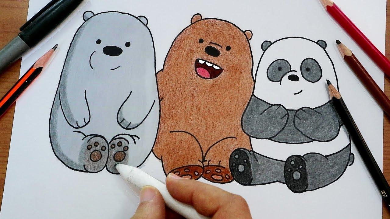 رسم الدببة الثلاثة شهاب قطبي باندا Drawing We Bare Bears