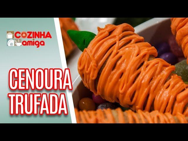 Cones TRUFADOS em forma de CENOURA  - Alê Peruzzo | Cozinha Amiga (14/03/19)