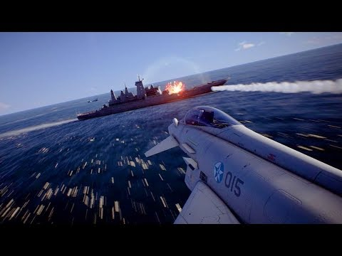 CARRIER SUNK, ANTI-SHIP MISSILES HIT | Ace Combat 7 Skies Unknown | PS4 | Mission #11 SU-33 Gameplay