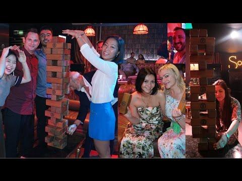 Crazy club dare challenges playing Jenga: Dubai JBR, UAE funny jokes!