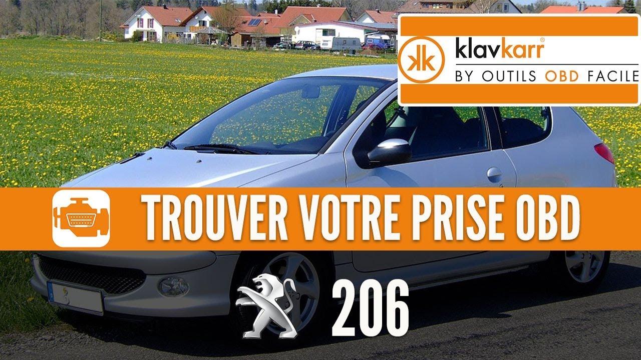 Prise OBD2 pour les Peugeot 206 (1999 - 2009)