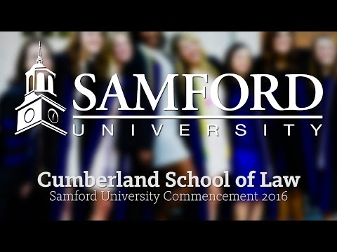 Cumberland School of Law Spring Commencement 2016