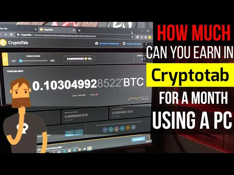 HOW MUCH CAN YOU EARN IN CRYPTOTAB FOR A MONTH USING YOUR PC | DESKTOP BITCOIN MINER