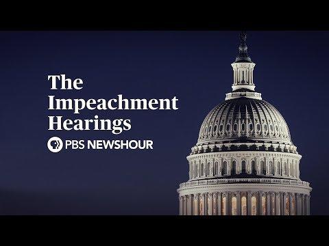 PBS NewsHour: PBS NewsHour Special: The Trump Impeachment Hearings - Day 1