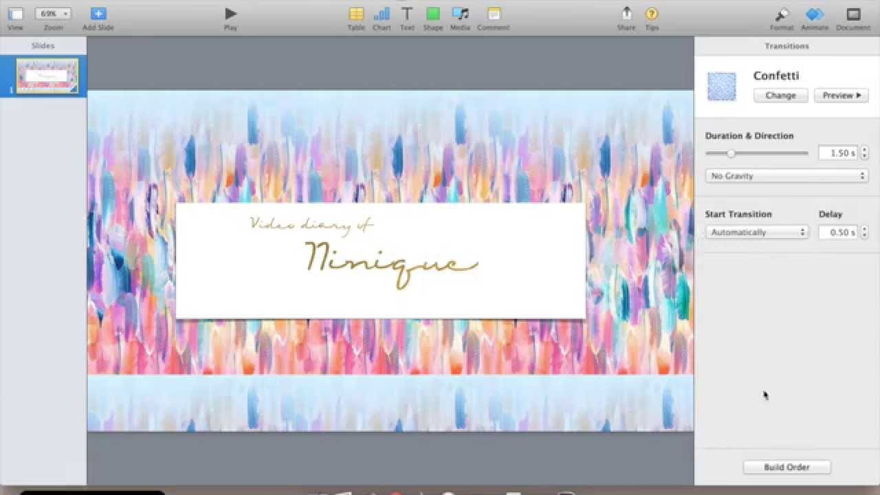 How to make a simple youtube intro   keynote and imovie tutorial.