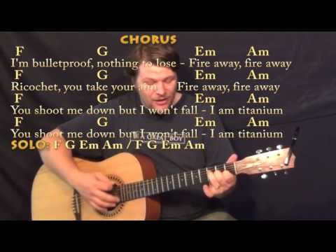 Titanium Guitar Lesson Tutorial Acoustic David Guetta Sia Mp3 ...