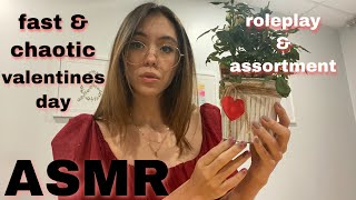 ASMR   Fast And Chaotic Assortment   Valentine's Day Roleplay