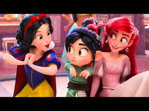 Full Let It Go, Baby Groot and Disney Princesses Scene - WRECK-IT RALPH 2 (2018) Movie Clip