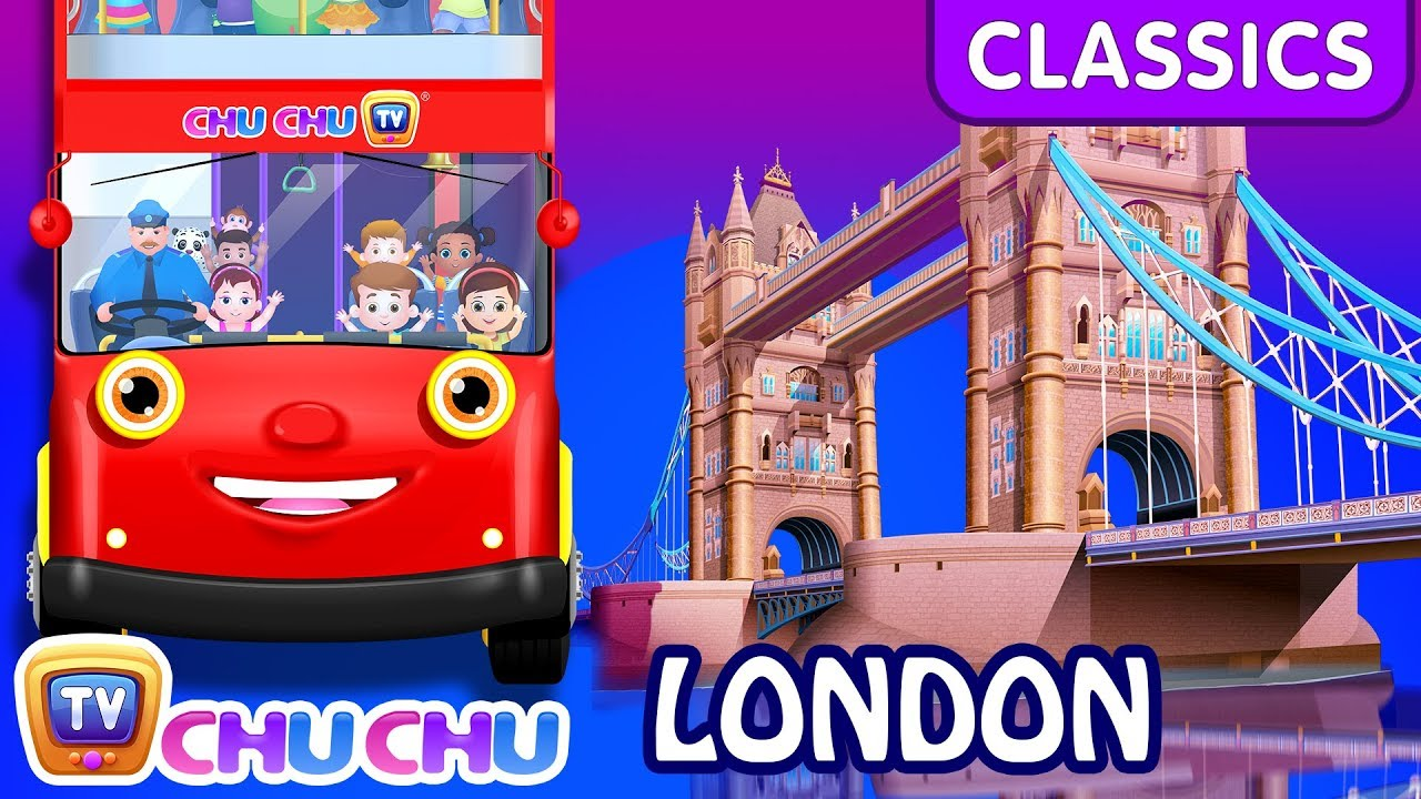 ChuChu TV Classics - Wheels On The Bus - London City | Nursery Rhymes and Kids Songs