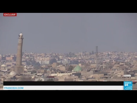 EXCLUSIVE - Iraq: On the frontline with armed forces near Mosul Abu Bakr al-Baghdadi mosque