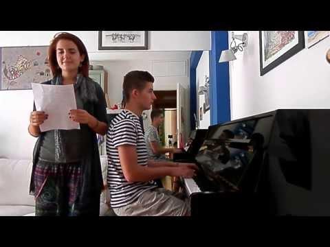 [HD] Ludovico Einaudi - Nuvole Bianche (piano and voice cover)