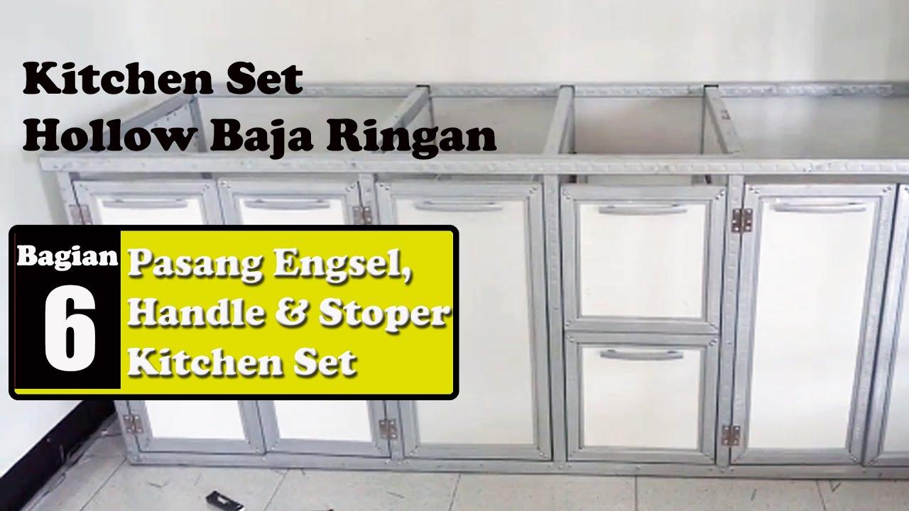 Kitchen Set Hollow Baja Ringan 6 Memasang Engsel Handle Dan Stoper Pintu