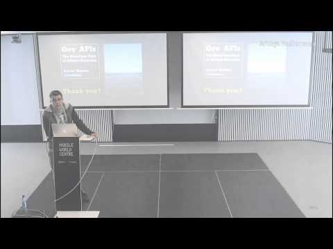 The notorious case of official statistics, Xabier Badosa at APIdays Mediterranea 2014