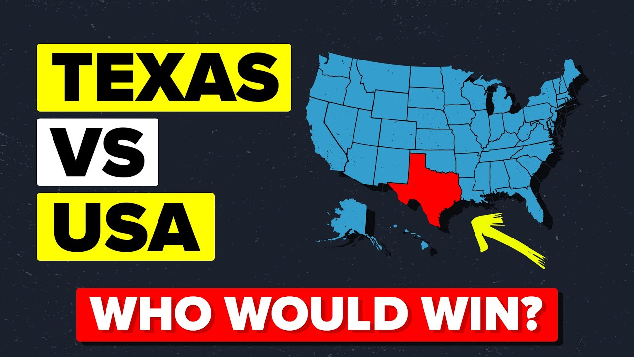 TEXAS vs (The Rest Of) UNITED STATES - Who Would Win?