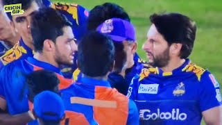 LPL 2020 - Things get heated between Naveen Ul Haq and Shahid Afridi