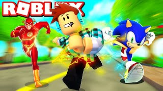 ROBLOX: RUNNING faster THAN SONIC!