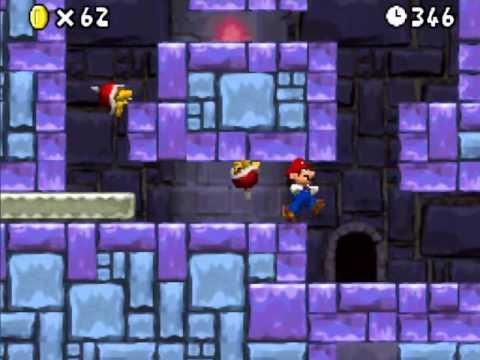 Super Mario Ds Walkthrough World 8 Tower 1 Star Coin Youtube