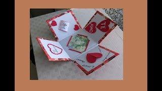 Ideias para o dia dos namorados fácil Diy dia dos namorados caixa explosiva