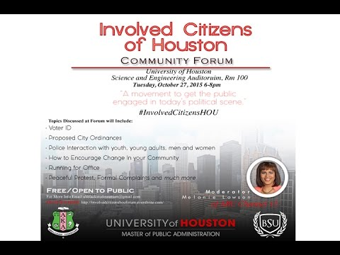 Livestream Footage: Involved Citizens Houston Community Forum
